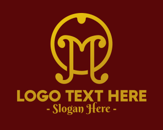 Upscale - Classic Letter M logo design