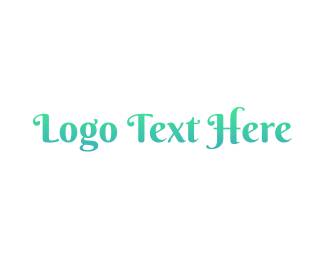 Text - Mermaid Blue Text logo design
