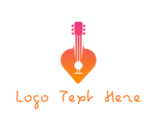 Acoustic - Guitar Love Song Serenade  logo design