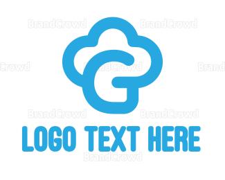 Cupcake Shop - Blue Cloud G logo design