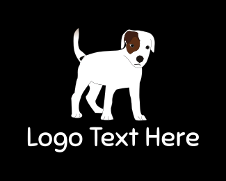 White Dog - Brown & White Dog logo design