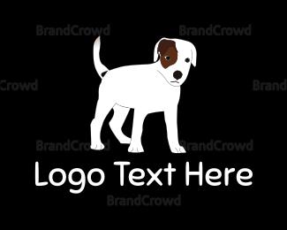 White - White Dog logo design