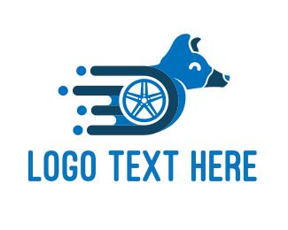 Tire - Dog Wheelchair logo design