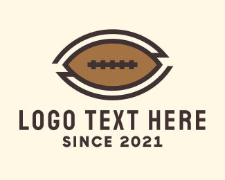 Rugby Tournament - Brown American Football logo design