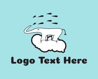 Rain - Elephant Cloud logo design