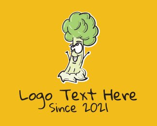 Cartoon - Cartoon Broccoli Veggie logo design