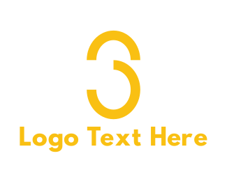 White And Yellow - Yellow Number 3 logo design