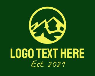Simple - Yellow Mountain Peak logo design
