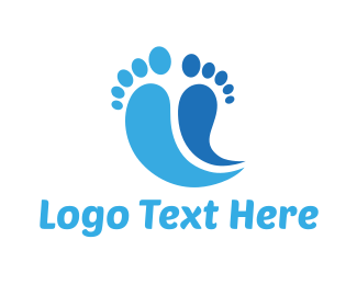 Feet - Blue Feet logo design