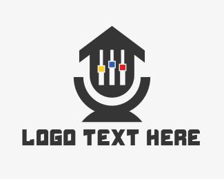 Nightclub - House Music logo design
