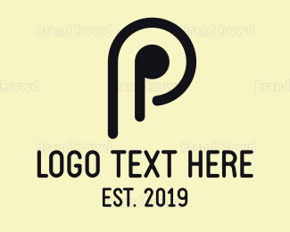 Simple - Minimalist Letter P logo design