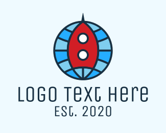 Space Capsule - Global Rocket Expedition logo design