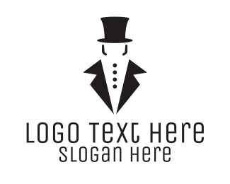 Fashion Vlogger - Gentleman Tuxedo logo design