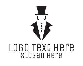 Masculine - Gentleman Tuxedo logo design