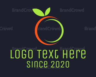Organic Food - Citrus Fruit logo design