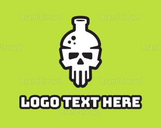 Toxic - Death Lab logo design