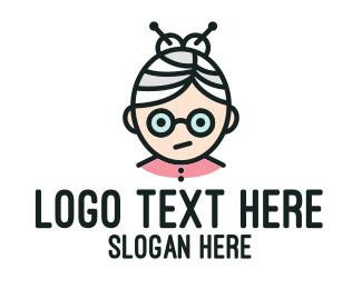 Grandma - Cute Granny Mascot logo design