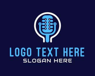 Microphone - Tech Microphone logo design