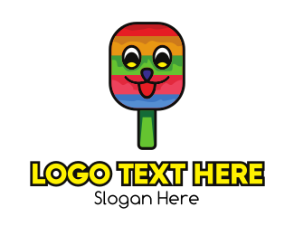 Ice Cream - Smiling Ice Cream Popsicle logo design