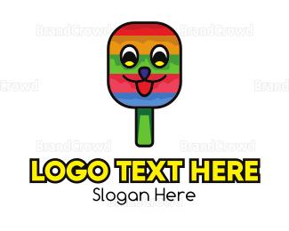 Ice Cream - Smiling Ice Cream Popsicle logo design