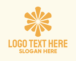 Laud - Yellow Burst logo design