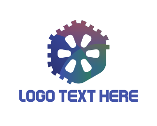 Hexagon - Hexagonal Gear logo design