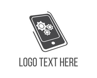 Cogwheel - Mobile Engine logo design