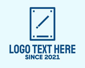 Electronics Shop - Minimalist Pen Tablet  logo design
