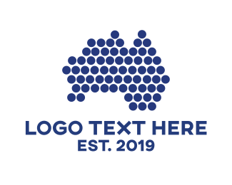 Perth - Australia Dot logo design
