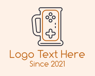 Controller Pad - Gaming Beer Mug logo design