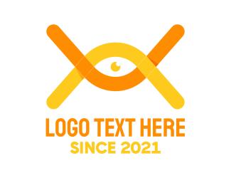 DNA Lab - DNA Vision Eye logo design