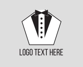 Waiter - Pentagon Tuxedo logo design