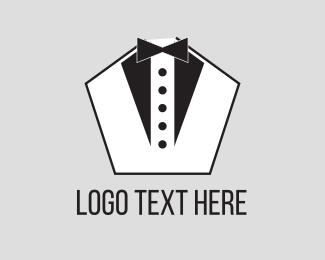 Button - Pentagon Tuxedo logo design