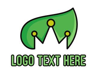 Leaf - Nature & Royalty logo design