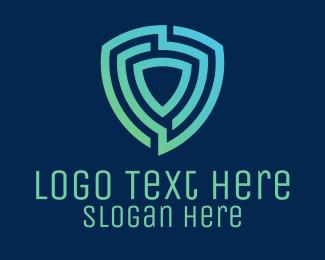 Digital - Tech Digital Shield logo design