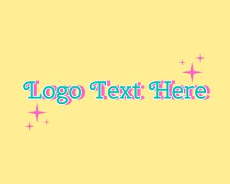 Word - Sparkly Script Wordmark logo design