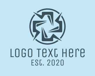 Surgeon - Blue Medical Cross logo design