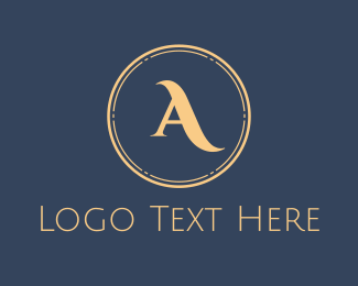 Libya - Elegant Gold Circle logo design