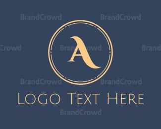 Fortune - Elegant Gold Circle logo design
