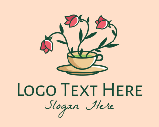 Relaxing - Rose Tea Drink logo design