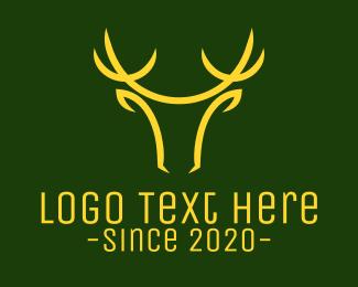 Christmas - Christmas Deer Head logo design