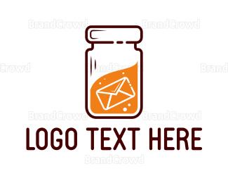 File Transfer - Jar Message logo design