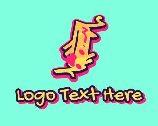 Teenager - Graffiti Art Letter I logo design