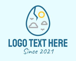 Weather Station - Weather Cracked Egg logo design
