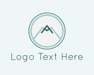 Mount - Mountain Circle logo design
