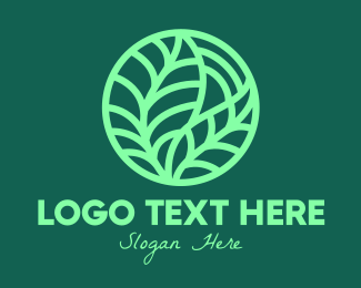 Garden - Green Botanical Garden logo design