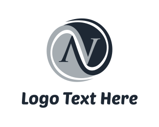 Round - Abstract N logo design