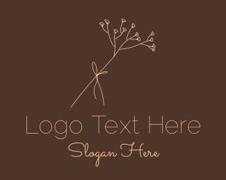 Perfume Store - Simple Flower Line Art logo design