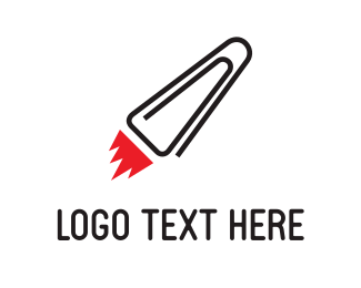 Document - Rocket Clip logo design