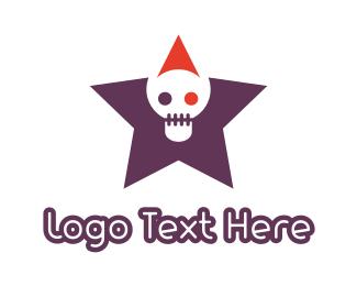 Cranium - Skull Star logo design